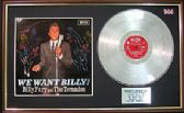 BILLY FURY- Platinum Disc & cover - WE WANT BILLY